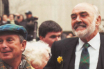 Mayor Michael Bloomberg welcomes Parade Grand Marshall, 