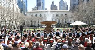 Pipe and Drums on the Fountain Terrace