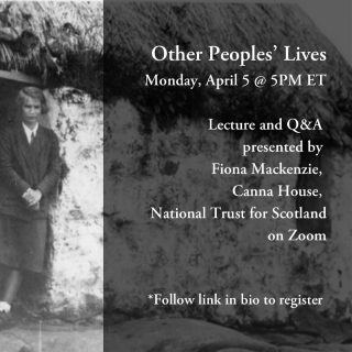 "Join us today for a pre-Tartan Day event: ""Other Peoples' Lives.""   Taking a broadcast that American folklorist Margaret Fay Shaw made in the 1950s as its inspiration, singer and archivist Fiona Mackenzie describes the contrast between Margaret's life as a music student in New York City in the 1950s and the life she ended up with on the Hebridean islands of South Uist and Canna.   The program includes Margaret's voice alongside Fiona's, as well as images and film clips. Fiona will also update us on the latest conservation work at Canna. A live question and answer session will follow.  Registration is required to join, follow the link in our bio to register! #nyctw"