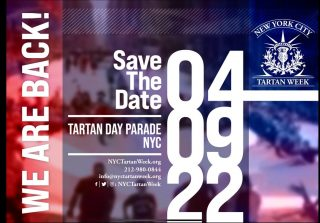WE ARE BACK! In person and better than ever, the 24th annual NYC Tartan Day Parade is scheduled for Saturday, April 9, 2022. #nyctw2022  The swirl of kilts, the skirl of bagpipes and the cheers of thousands of spectators await. This beloved celebration of Scottish-American culture promises to be extraordinary in scope, talent and turnout as we gather in person for the first time since 2019.  Parade registration will soon be open, free of charge. Look for our next announcement, coming soon! Support the National Tartan Day New York Committee by donating, taking out an ad, or purchasing some merch through the link in our bio.