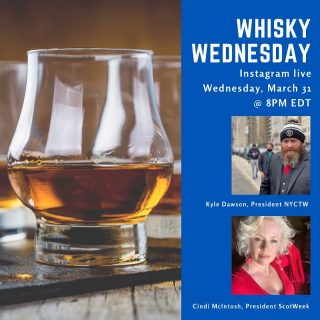 Join us for a special #whiskywednesday happy hour chat with Kyle and Cindi as they discuss the newly announced lineup for virtual NYC Tartan Week 2021. Hear about all the exciting events planned as we kick off Tartan Week on April 6! #nyctw